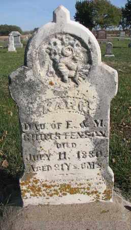 CHRISTENSON, KARI - Union County, South Dakota   KARI CHRISTENSON - South Dakota Gravestone Photos