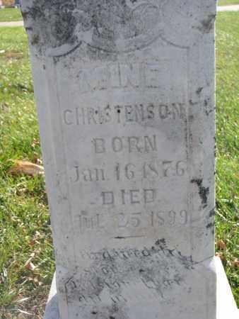 CHRISTENSON, MINE (CLOSEUP) - Union County, South Dakota | MINE (CLOSEUP) CHRISTENSON - South Dakota Gravestone Photos