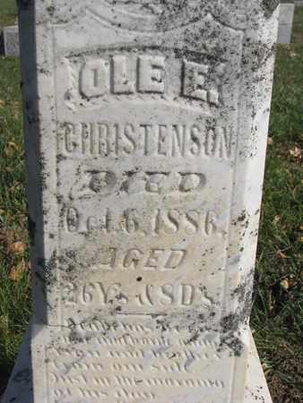 CHRISTENSON, OLE (CLOSEUP) - Union County, South Dakota   OLE (CLOSEUP) CHRISTENSON - South Dakota Gravestone Photos