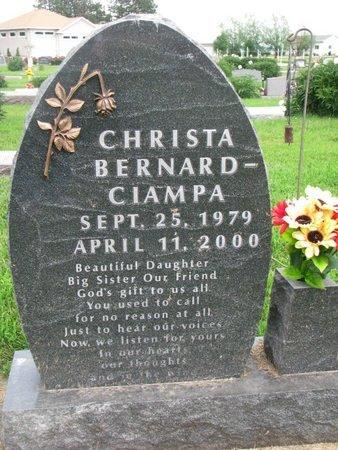 BERNARD CIAMPA, CHRISTA - Union County, South Dakota   CHRISTA BERNARD CIAMPA - South Dakota Gravestone Photos