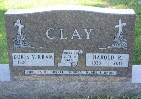 KRAM CLAY, DORIS V. - Union County, South Dakota | DORIS V. KRAM CLAY - South Dakota Gravestone Photos