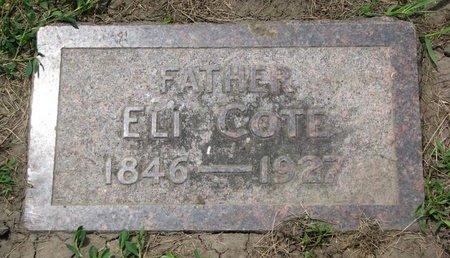 COTE, ELI - Union County, South Dakota   ELI COTE - South Dakota Gravestone Photos