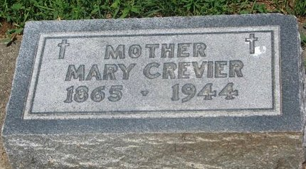 CREVIER, MARY - Union County, South Dakota | MARY CREVIER - South Dakota Gravestone Photos