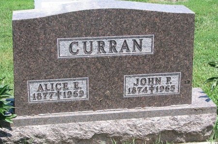 CURRAN, ALICE E. - Union County, South Dakota | ALICE E. CURRAN - South Dakota Gravestone Photos