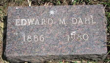 DAHL, EDWARD M. - Union County, South Dakota   EDWARD M. DAHL - South Dakota Gravestone Photos