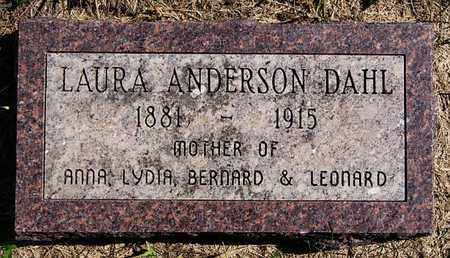 ANDERSON DAHL, LAURA - Union County, South Dakota | LAURA ANDERSON DAHL - South Dakota Gravestone Photos