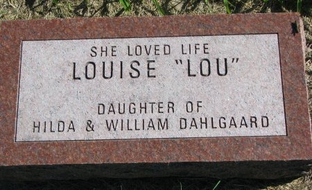 "DALGAARD, LOUISE ""LOU"" - Union County, South Dakota | LOUISE ""LOU"" DALGAARD - South Dakota Gravestone Photos"