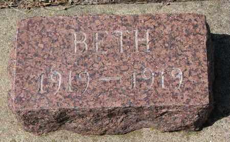 DE REMER, BETH - Union County, South Dakota | BETH DE REMER - South Dakota Gravestone Photos