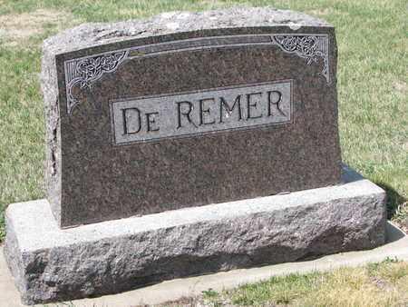 DE REMER, *FAMILY MONUMENT - Union County, South Dakota | *FAMILY MONUMENT DE REMER - South Dakota Gravestone Photos