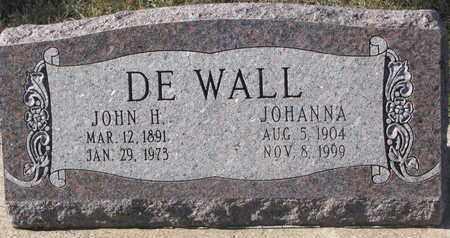 DE WALL, JOHN H. - Union County, South Dakota   JOHN H. DE WALL - South Dakota Gravestone Photos