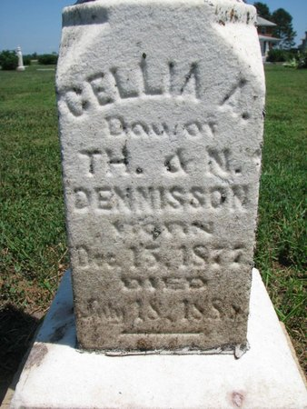 DENNISON, CELLIA A. (CLOSEUP) - Union County, South Dakota | CELLIA A. (CLOSEUP) DENNISON - South Dakota Gravestone Photos