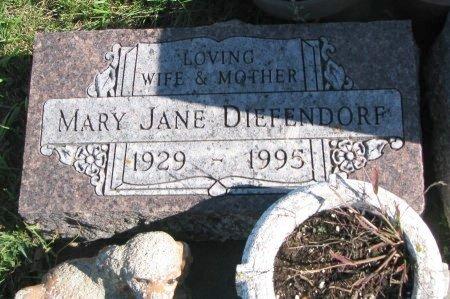 DIEFENDORF, MARY JANE - Union County, South Dakota   MARY JANE DIEFENDORF - South Dakota Gravestone Photos