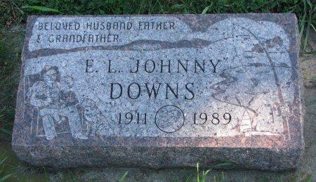 "DOWNS, E.L. ""JOHNNY"" - Union County, South Dakota   E.L. ""JOHNNY"" DOWNS - South Dakota Gravestone Photos"