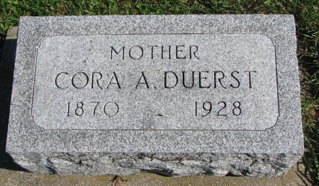 DUERST, CORA A. - Union County, South Dakota | CORA A. DUERST - South Dakota Gravestone Photos