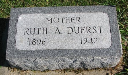DUERST, RUTH A. - Union County, South Dakota | RUTH A. DUERST - South Dakota Gravestone Photos