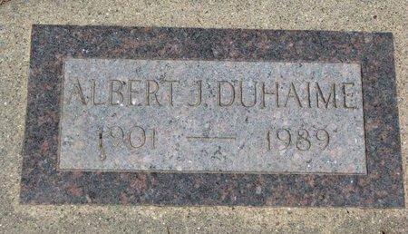 DUHAIME, ALBERT J. - Union County, South Dakota | ALBERT J. DUHAIME - South Dakota Gravestone Photos