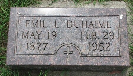 DUHAIME, EMIL LEWIS - Union County, South Dakota | EMIL LEWIS DUHAIME - South Dakota Gravestone Photos