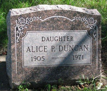 DUNCAN, ALICE P. - Union County, South Dakota | ALICE P. DUNCAN - South Dakota Gravestone Photos