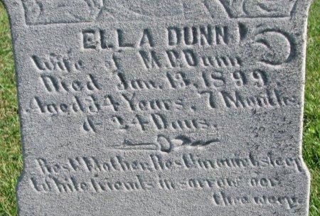DUNN, ELLA (CLOSE UP) - Union County, South Dakota   ELLA (CLOSE UP) DUNN - South Dakota Gravestone Photos
