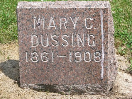 LAWSON DUSSING, MARY C. - Union County, South Dakota | MARY C. LAWSON DUSSING - South Dakota Gravestone Photos