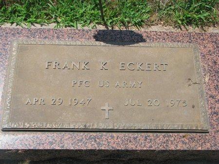"ECKERT, FRANK K. ""KENNY"" (US ARMY) - Union County, South Dakota   FRANK K. ""KENNY"" (US ARMY) ECKERT - South Dakota Gravestone Photos"