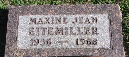EITEMILLER, MAXINE JEAN - Union County, South Dakota | MAXINE JEAN EITEMILLER - South Dakota Gravestone Photos