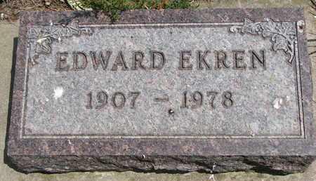 EKREN, EDWARD - Union County, South Dakota | EDWARD EKREN - South Dakota Gravestone Photos