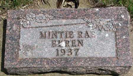 EKREN, MINTIE RAE - Union County, South Dakota | MINTIE RAE EKREN - South Dakota Gravestone Photos