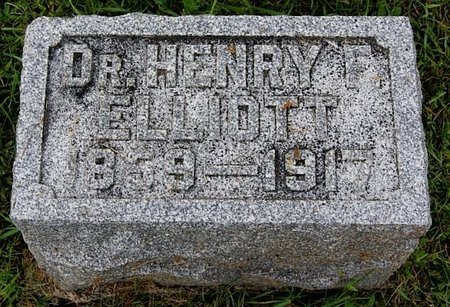 ELLIOTT, HENRY F. (DR.) - Union County, South Dakota | HENRY F. (DR.) ELLIOTT - South Dakota Gravestone Photos