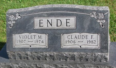 ENDE, VIOLET M. - Union County, South Dakota | VIOLET M. ENDE - South Dakota Gravestone Photos