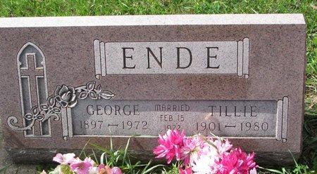 ENDE, GEORGE - Union County, South Dakota | GEORGE ENDE - South Dakota Gravestone Photos