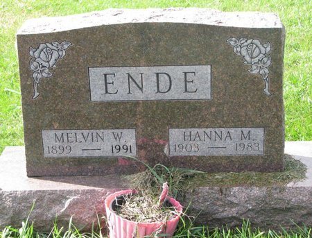 ENDE, MELVIN W. - Union County, South Dakota | MELVIN W. ENDE - South Dakota Gravestone Photos