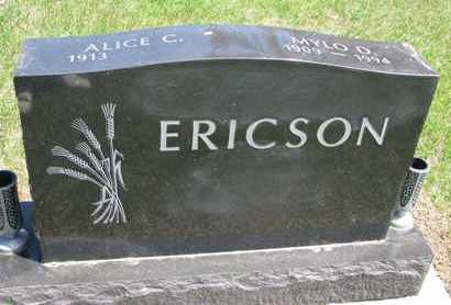 ERICSON, MYLO D. - Union County, South Dakota | MYLO D. ERICSON - South Dakota Gravestone Photos
