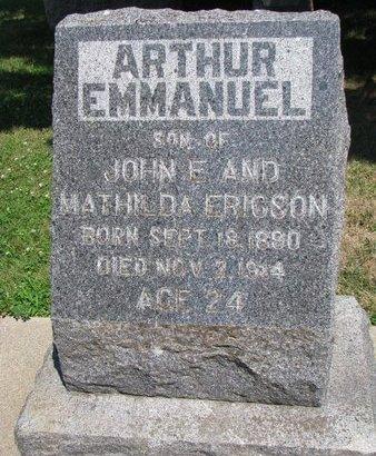 ERICSON, ARTHUR EMMANUEL - Union County, South Dakota   ARTHUR EMMANUEL ERICSON - South Dakota Gravestone Photos