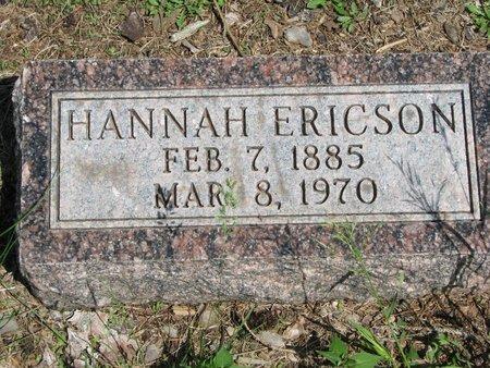 ERICSON, HANNAH - Union County, South Dakota | HANNAH ERICSON - South Dakota Gravestone Photos