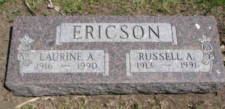 ERICSON, RUSSELL A. - Union County, South Dakota   RUSSELL A. ERICSON - South Dakota Gravestone Photos