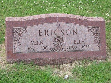 ERICSON, ELLA - Union County, South Dakota   ELLA ERICSON - South Dakota Gravestone Photos