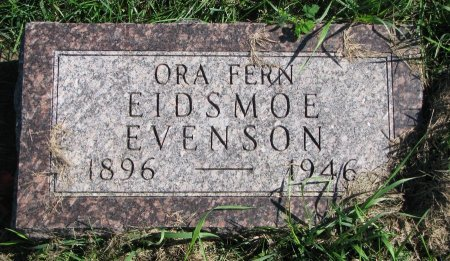 EIDSMOE EVENSON, ORA FERN - Union County, South Dakota | ORA FERN EIDSMOE EVENSON - South Dakota Gravestone Photos