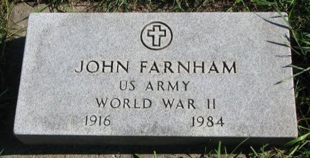 FARNHAM, JOHN (WORLD WAR II) - Union County, South Dakota | JOHN (WORLD WAR II) FARNHAM - South Dakota Gravestone Photos