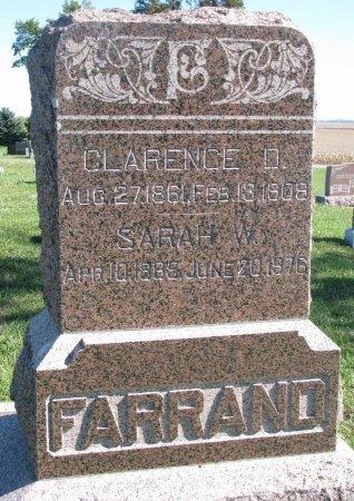 FARRAND, CLARENCE D. - Union County, South Dakota | CLARENCE D. FARRAND - South Dakota Gravestone Photos