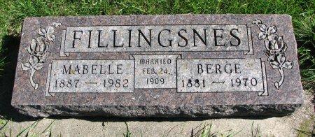 FILLINGSNES, BERGE - Union County, South Dakota | BERGE FILLINGSNES - South Dakota Gravestone Photos