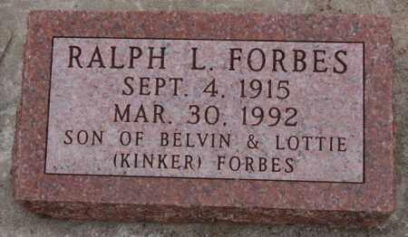 FORBES, RALPH L - Union County, South Dakota | RALPH L FORBES - South Dakota Gravestone Photos