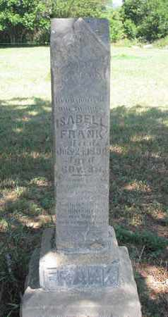 FRANK, ISABELL - Union County, South Dakota | ISABELL FRANK - South Dakota Gravestone Photos