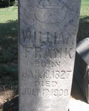 FRANK, WILLIAM (CLOSE UP) - Union County, South Dakota | WILLIAM (CLOSE UP) FRANK - South Dakota Gravestone Photos