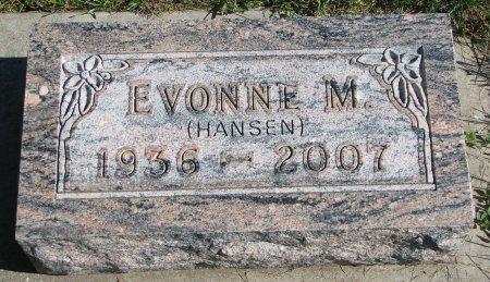 HANSEN FRIEBERG, EVONNE M. - Union County, South Dakota | EVONNE M. HANSEN FRIEBERG - South Dakota Gravestone Photos