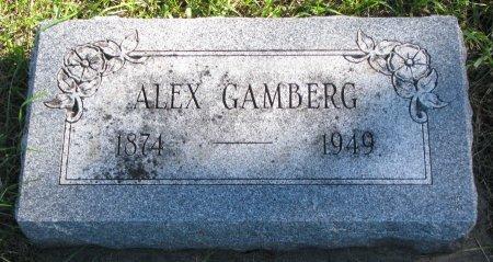 GAMBERG, ALEX - Union County, South Dakota | ALEX GAMBERG - South Dakota Gravestone Photos