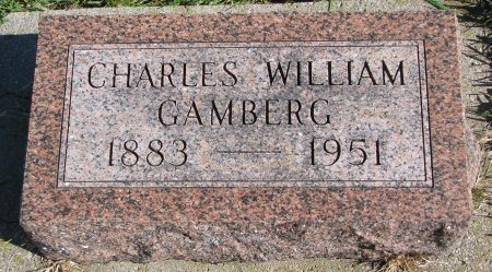 GAMBERG, CHARLES WILLIAM - Union County, South Dakota | CHARLES WILLIAM GAMBERG - South Dakota Gravestone Photos