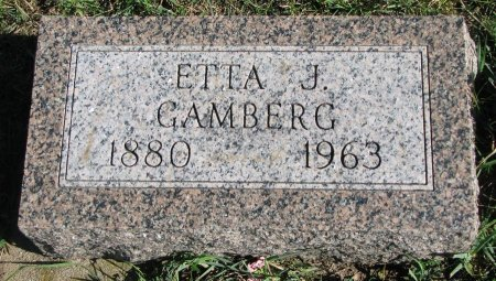"VEBORG GAMBERG, ETTIE JOSEPHINE ""ETTA"" - Union County, South Dakota 