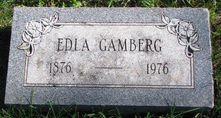 GAMBERG, EDLA - Union County, South Dakota   EDLA GAMBERG - South Dakota Gravestone Photos