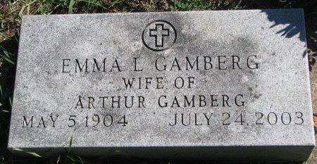 GAMBERG, EMMA L. - Union County, South Dakota | EMMA L. GAMBERG - South Dakota Gravestone Photos